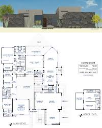 Mother In Law Quarters Floor Plans Courtyard60 Luxury Modern House Plan 61custom Contemporary