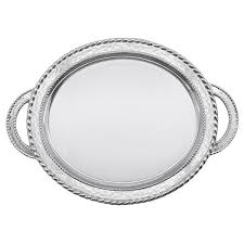 engraved tray engraved meridian oval service tray with handles home
