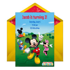 baby mickey invitations mickey mouse clubhouse party online invitation disney family
