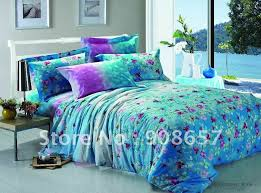 Pixel Comforter Set Green And Purple Comforter Set 7211
