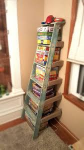 Book Or Magazine Ladder Shelf by Best 25 Wooden Ladder Shelf Ideas On Pinterest Old Ladder Shelf