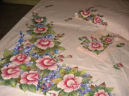 bed sheet design for paintings rose petals free hand design on bed