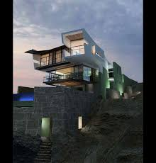 modern beach house on top sea cliff view real estate houses