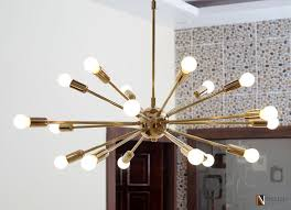 Sputnik Chandelier Mid Century Modern Polished Brass Sputnik Chandelier Light Fixture