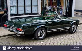 classic mercedes convertible dark green convertible mercedes benz 290 sl stock photo royalty