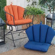 wrought iron chairs patio coral coast valencia barrel back chair cushion 18 x 30 in