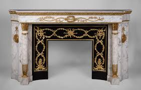 beautiful antique louis xvi style fireplace in arabescato
