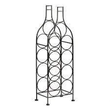 9 opening bottle shaped wine rack christmas tree shops andthat