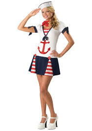 Cheap Tween Halloween Costumes Teen Sassy Sailor Costume