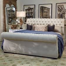 bedrooms wooden queen bed frame tufted sleigh bed wingback
