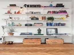 elfa bookshelves reoler on shelf brackets living decorative shelf