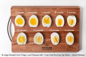 egg boiled pressure cooker soft medium boiled eggs guide