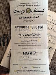 tri fold invitations tear rsvp wedding invitations items similar to wedding trifold