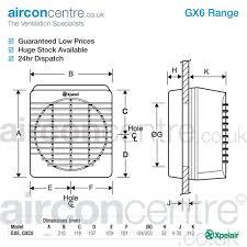 xpelair gx6t kitchen axial fan 90812aw air con centre
