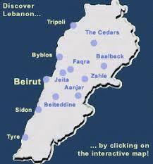lebanon on the map maps of lebanon lebguide lebanon guide