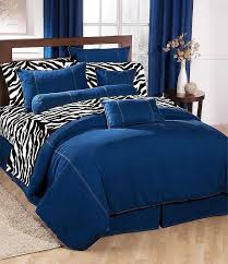 Leopard King Size Comforter Set American Denim Comforter Blue Jean Bedding California King