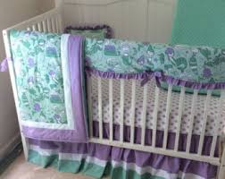 charming teal and purple crib bedding m31 in home decorating ideas