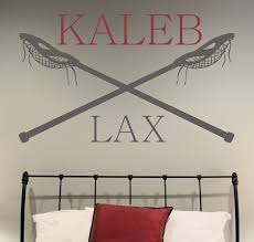 Personalized Wall Decor District17 Lacrosse Personalized Wall Decal Wall Decals