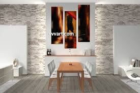 Dining Room Art Decor by 3 Piece Modern Red Umbrella Wall Decor