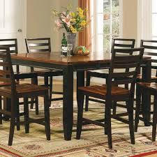 Pub Style Dining Room Set Counter High Dining Table Steve Silver Rebecca Wine Storage