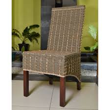 Woven Dining Room Chairs Dining Room Lacquered Seagrass Dining Room Chair With Black