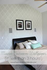 bedroom wallpaper in less than 3 hours love create