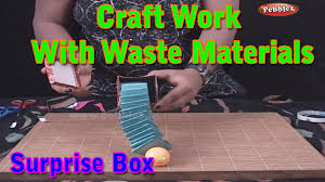 surprise box craft work with waste materials learn craft for