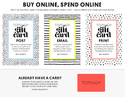 topshop gift card gift ideas topshop