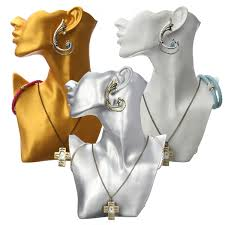 necklace earring display images Resin mannequin necklace earrings jewelry display stand showcase jpg