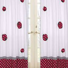 Ladybug Curtains Baby The Ladybug Curtains Will Add Warmth And Charm To The
