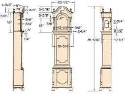 Free Wooden Clock Plans Dxf by Grandfather Clock Plans Google Search Future Stuff Pinterest