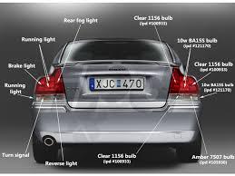volvo s60 tail light assembly volvo rear running park l bulb p2 s60 121170 989841 5008l 983330