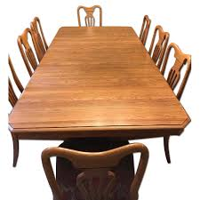 keller corporation dining table w 8 chairs diningroom