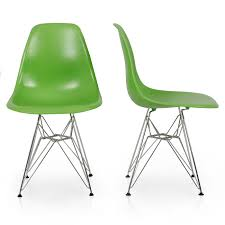 Eames Style Chair by 2x Style Dsw Modern Eiffel Side Chair Molded Abs Plastic Chairs