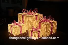 where can i buy christmas boxes new 3d led decorative christmas gift box sculpture motif