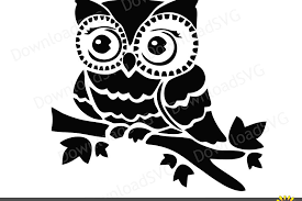 design clipart svg and png cutting files owl on the br design bundles