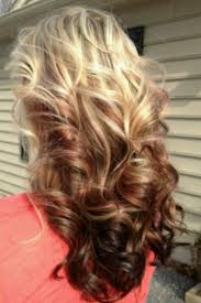hair styles brown on botton and blond on top pictures of it i want this but inverted with blonde on the bottom and the brown