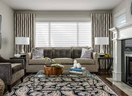 living room curtains design ideas 2016 eyelet curtains of gray hue in the modern apartment