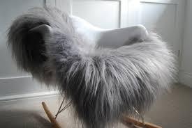 Mirs Rugs Sweet Looking Gray Fur Rug Wonderful Decoration Rug Grey Sheepskin