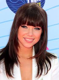 carly rae jepsen hairstyle back layered hairstyles with bangs beauty riot