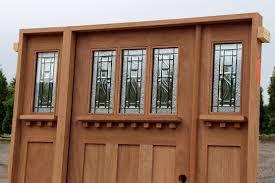 Wide Exterior Doors by Craftsman Door With Active Sidelite