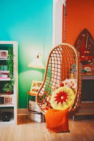 bedroom hanging wicker chair basket rattan material inspirations