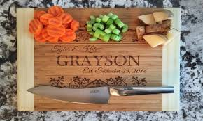 personalized engraved cutting board custom kitchenware american laser crafts groupon