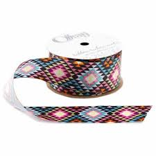 aztec ribbon offray aztec ribbon 1 5 x 9 multi colored walmart