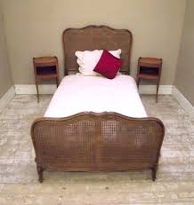 ib2449 vintage french cane large single bed