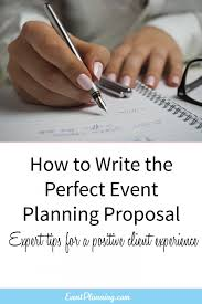 how to write an event planning proposal eventplanning com