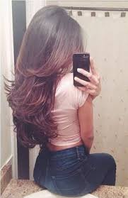 back of the hair long layers long layered brown blonde highlights lowlights bronde hair