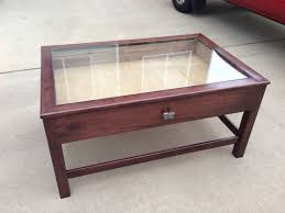 glass top display coffee table 30 best ideas of coffee tables with glass top display drawer