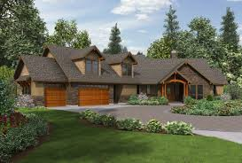 Craftsman Style Homes Plans One Level Ranch Style House Plans Ideas House Design And Office