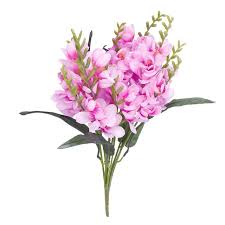 freesia flower alim 1 x artificial freesia flower bouquet with 9 fork stems for